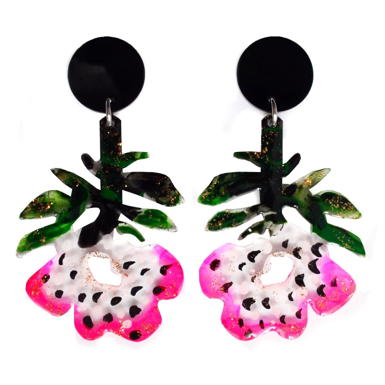 Flower Glitter Earrings|Resin Earrings Flower Earrings