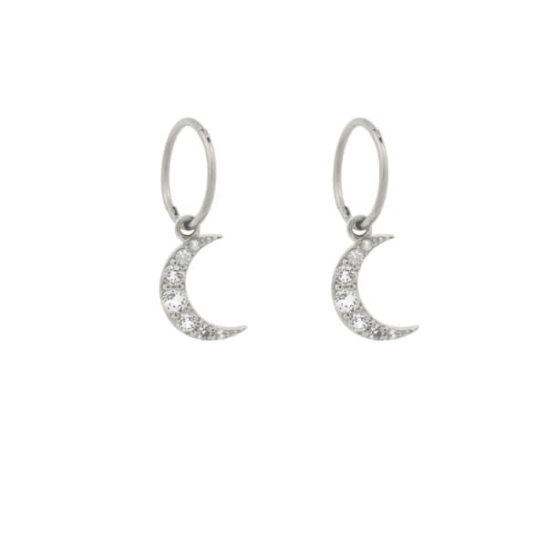 MONARC JEWELLERY Moonlight Hoops Sterling Silver & White Topaz