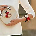 Acrylic Handmade Bracelet Hands & Heart image