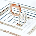 Alvaro Rose Gold Cocktail Ring With Grey Pearl image