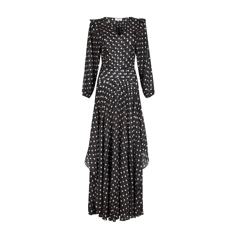 32f44b448a Miller Black Silk-Blend Spot Maxi Dress | NASON | Wolf & Badger