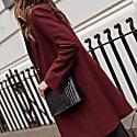 Wool Cashmere Tailored Coat - Bordeaux image