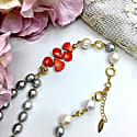 Freshwater Pearls With Floral Corals Double Strands Necklace image