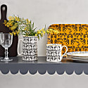 Vine Birch Veneer Tray Medium - Ochre & Black image