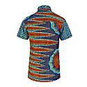 Men's Short Sleeve Mixed African Print Shirt image