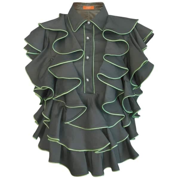SUPERSWEET X MOUMI Manooshby Shirt Ebony