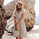 Matta Blanc Handwoven Straw Clutch image