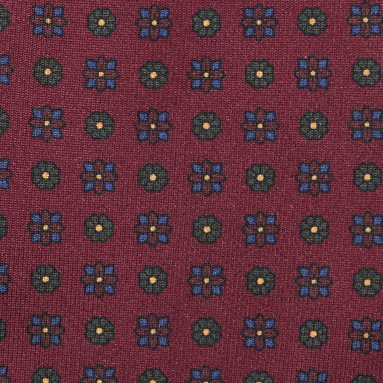 f9c9bd95f1de Burgundy Floral Print 36oz Foulard Silk Tie   EZRA AMARFIO   Wolf ...