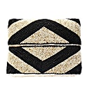 Zoe Beaded Clutch Natural Black image