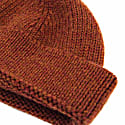 Rust Solid Wool Fisherman Beanie  image