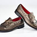 Megan Metallic Bronze Loafer image