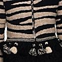 Zebra Print Knit Coat Simona image
