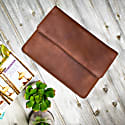 Leather Travel Document Wallet In Vintage Brown image
