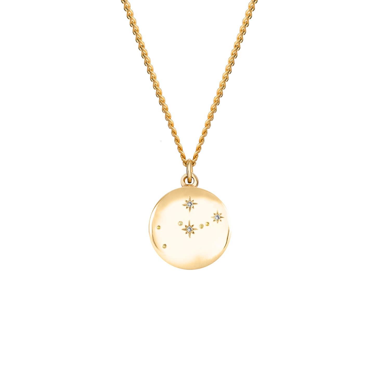 56ac5bfb93e38b Taurus Zodiac Constellation Necklace Yellow Gold & Diamonds | No 13 ...