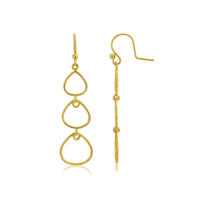 ba6cf22ca Marseille Triple Gold Vermeil Drop Earrings   Auree Jewellery   Wolf ...