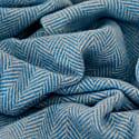 Recycled Wool Blanket In Sky Blue Herringbone image