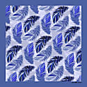 The Feather Pocket Square Cobalt image