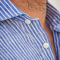 Corsica Stripes Linen Shirt Blue image