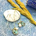 Turquoise & Freshwater Pearls Swinging Earring image