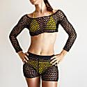 Crochet Crop Top In Black image