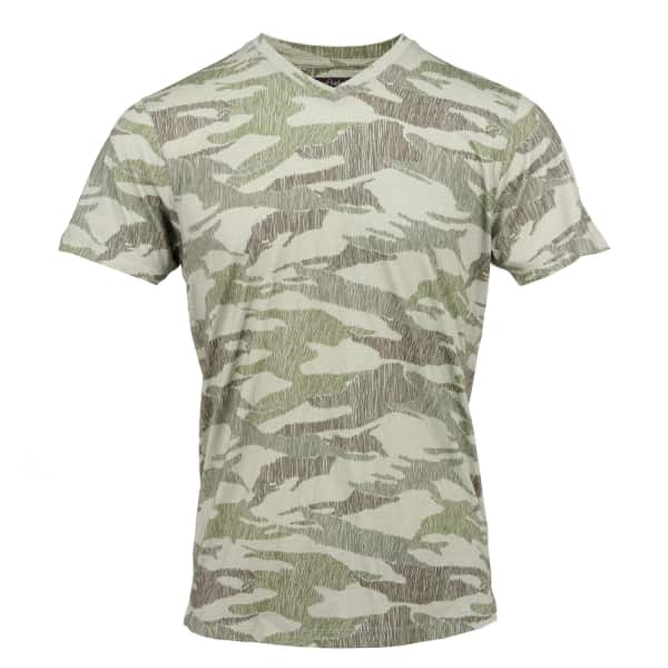 LORDS OF HARLECH Maze Tee In Olive Scribble Camo