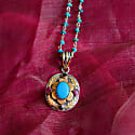Ishana Turquoise Ruby Sapphire Pendant image
