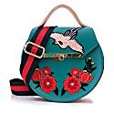Loel Floral & Crane Top Handle Bag image