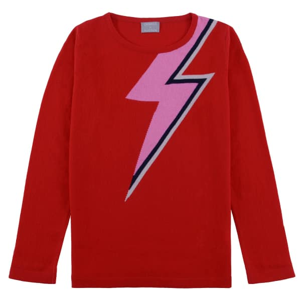 Bowie Sweater in Red from Orwell + Austen £185 fd0e4d502