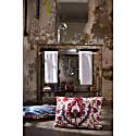 Hagia Sophia Wonder Suzani Ikat Silk Double Sided Cushion image