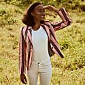 Pink Striped Ladies Sporting Jacket image