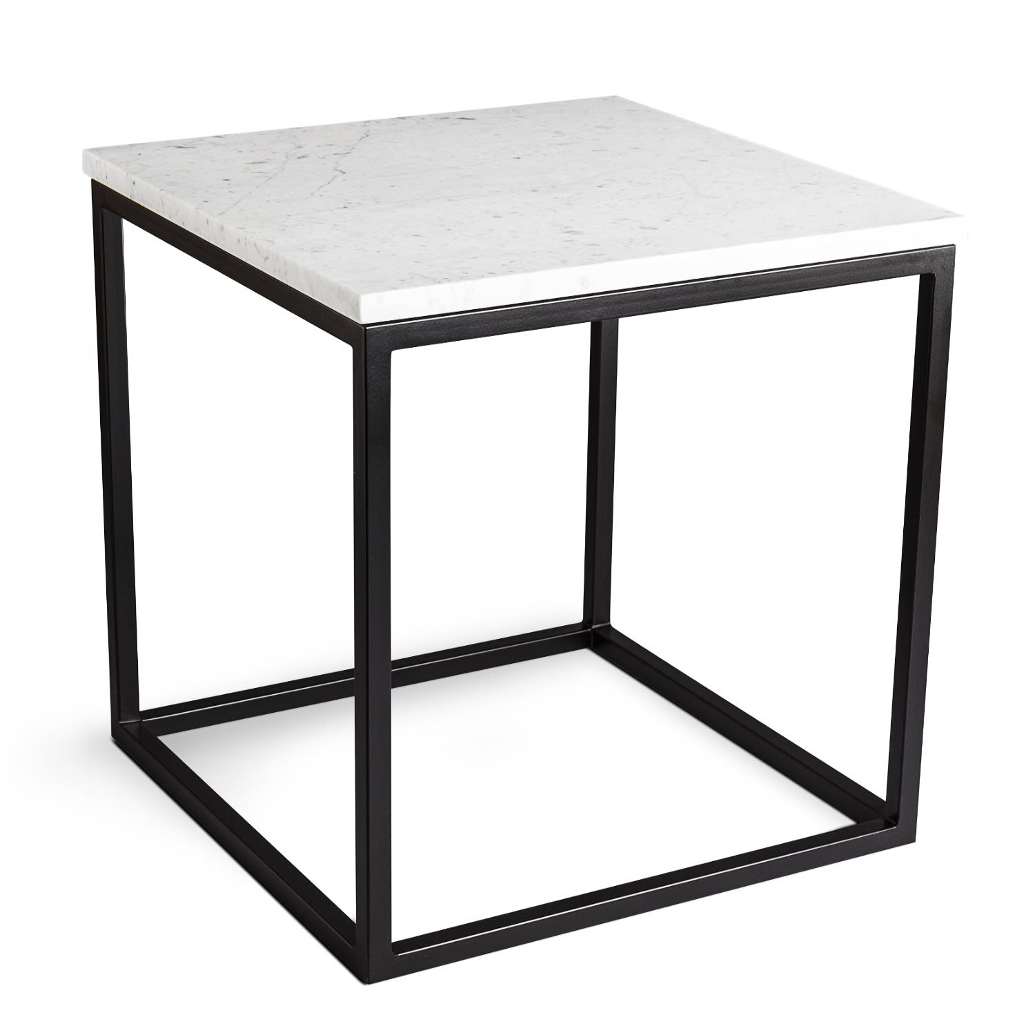 White Marble Marble Side Table