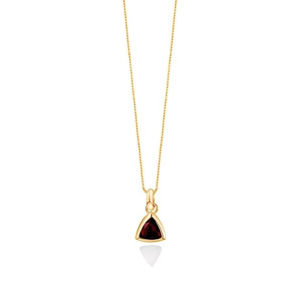 EDGE OF EMBER Garnet Charm Necklace