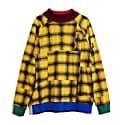 Gold Plaid Drop Shoulder Sweatshirt image