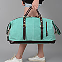 Zip Detail Water Repellent Holdall In Turquoise image
