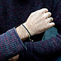Handmade Vegan Cord Bracelet In Cream & Wine Red image