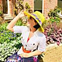 Coachella Handwoven Genuine Panama Sun Hat Wide Brim image