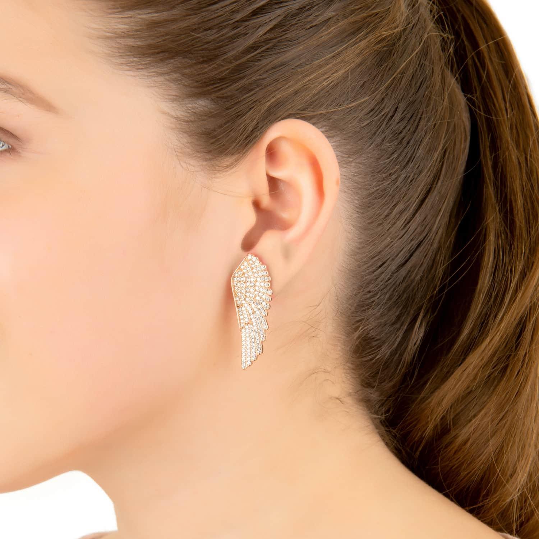 24689828f87edb Large Angel Wing Earring Gold | LATELITA | Wolf & Badger