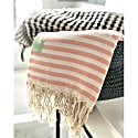 Marshmallow Candy Stripe Hammam Towel image