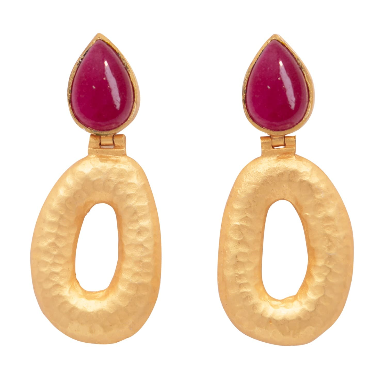 oval e earrings splatter mattegold paint matte gold