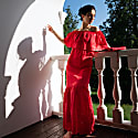 Lyubava Maxi Dress in Scarlet Red image
