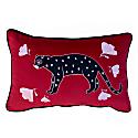 Poppy And Polka Cat - Velvet Cushion Cover image