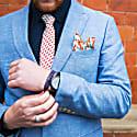 Flaming Sword - Orange - Hand Finished Silk Tie image