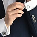 Aim Concrete & Surgical Steel Cufflinks Grey image