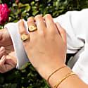 Angel Cherub Gold Vermeil Signet Ring image