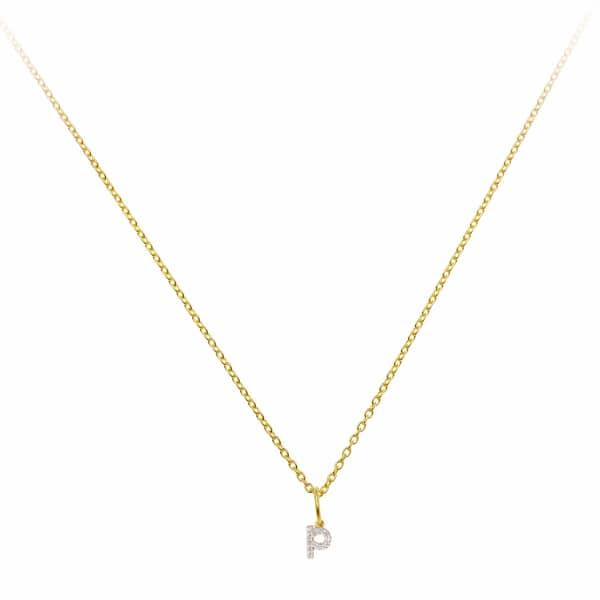 SHARON MILLS LONDON Monogram Mini Diamond Necklace P