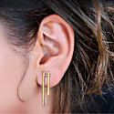 Parallel Earrings 18K Gold Plated image