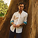 White Linen 'Luo' Shirt image