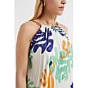 Mina White Printed Pleat Dress image