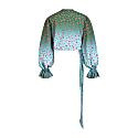 Wrap Blouse Pink/Green Animal Print image