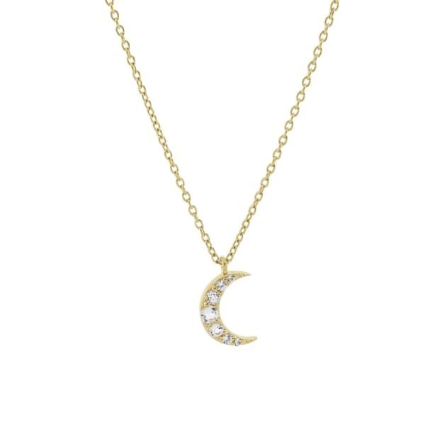 MONARC JEWELLERY Moonlight Necklace Gold Vermeil & White Topaz